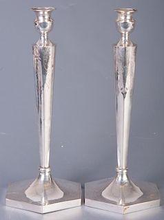 Sterling Candlesticks Pair, Circa 1900s