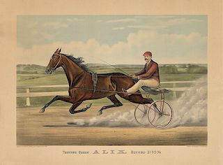 Trotting Queen ALIX - Original Large Folio Currier & Ives Lithograph.