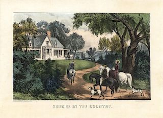 Summer in the Country - Original Small Folio Currier & Ives Lithograph