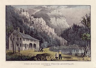The Notch House - Original Small Folio Currier & Ives Lithograph