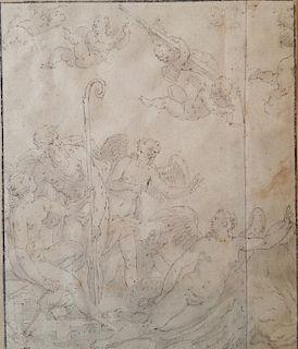 Lambert Sustris (1515-1584), attr. Old Master mythological