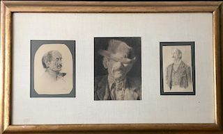 Joseph Stella (1877-1946) Three Framed Drawings