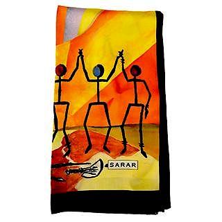 Sarar - CITYarts Pieces for Peace Silk Scarf - Figures