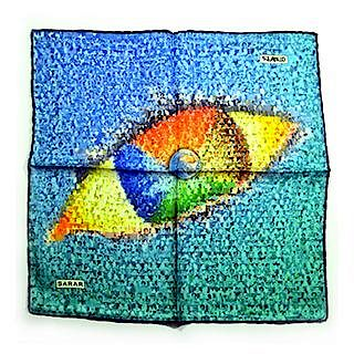 Sarar - CITYarts Pieces for Peace Silk Pocket Square - Eye