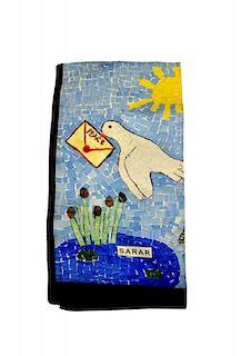 Sarar - CITYarts Pieces for Peace Silk Scarf - Dove