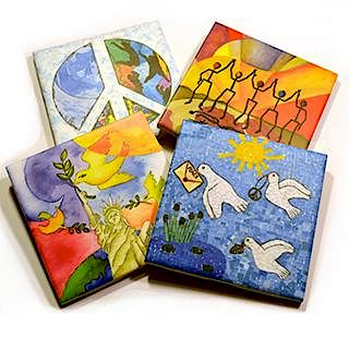 Set of Pieces for Peace Coasters (4 Coasters)