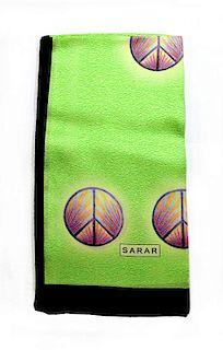 Sarar - CITYarts Pieces for Peace Silk Scarf - Peace Signs