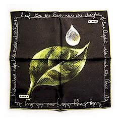 Sarar - CITYarts Pieces for Peace Silk Pocket Square - Leaf
