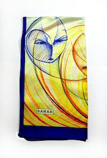 Sarar - CITYarts Pieces for Peace Silk Scarf - Faces