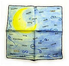 Sarar - CITYarts Pieces for Peace Silk Pocket Square - Moon