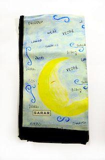 Sarar - CITYarts Pieces for Peace Silk Scarf- Moon