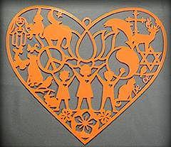 CITYarts Holiday Peace Ornament - Heart