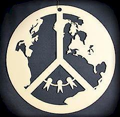 CITYarts Holiday Peace Ornament - Peace on Earth