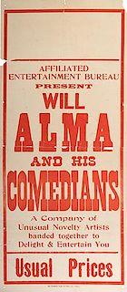 ALMA, WILL (OSWALD GEORGE WILLIAM BISHOP). Will Alma.