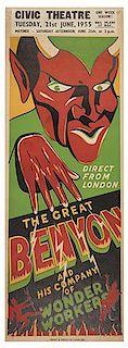 BENYON, EDGAR. Direct from London. The Great Benyon.