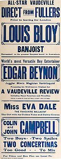 BENYON, EDGAR. World's Most Versatile Boy Entertainer. Edgar Benyon.