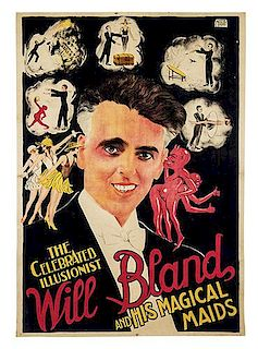 BLAND, WILL. The Celebrated Illusionist Will Bland and his Magical Maids.
