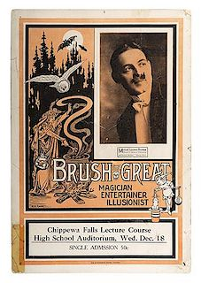 BRUSH, EDWIN. Two Edwin Brush Window Cards.