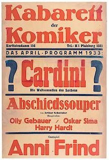 Cardini (Richard Valentine Pitchford). ? Cardini ? Die Weltsensation des Lachens.