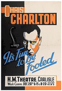 CHARLTON, CHRIS. Chris Charlton Says It's Fun to be Fooled.