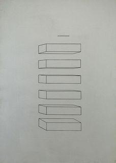 JUDD, Donald. Etching. Untitled, 1974.