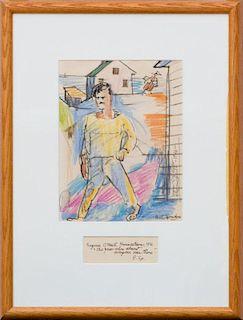CARL SPRINCHORN (1887-1971): EUGENE O'NEILL, PROVINCETOWN, 1916