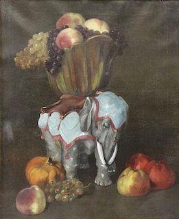 VAN DER MEULEN, Edmond. Oil on Canvas. Still Life