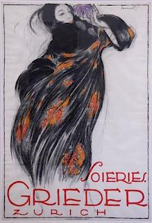 """LOUPOT, Charles. Color Lithograph Poster """"Soires /"""
