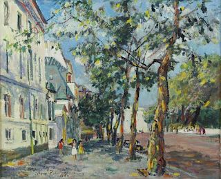 "ZIMMERMANN, Rene. Oil on Canvas ""Quai de"