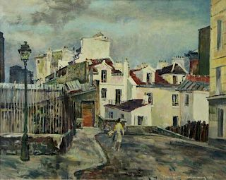 "ZIMMERMANN, Rene. Oil on Canvas ""Impasse Trainee"""