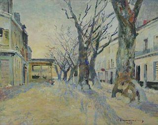 """ZIMMERMANN, Rene. Oil on Canvas """"Salon-de-"""