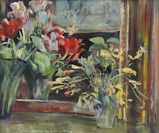 ZIMMERMANN, Rene. Oil on Canvas. Still Life. Two