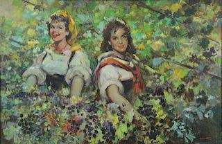 GIOVANETTI, Giordano. Oil on Canvas. Beauties