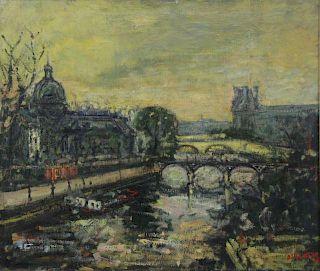 """BLATAS, Arbit. Oil on Canvas. """"Paris""""."""