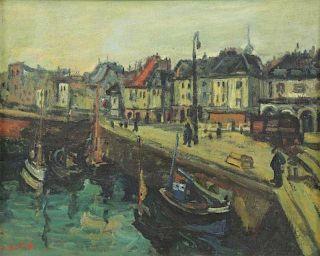 BLATAS, Arbit. Oil on Canvas. French Port.