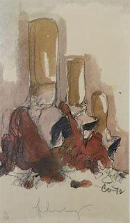 "OLDENBURG, Claes. Offset Lithograph. ""Fagends"