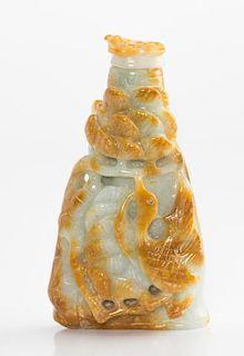 Celadon, Russet Jade Snuff Bottle