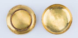Chinese Gilt Bronze Stamp Ink Box