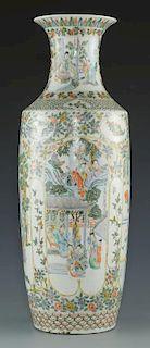 Famille Verte Porcelain Floor Vase