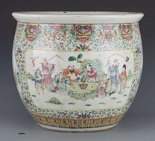 Famille Rose Porcelain Fish Bowl, Republic Period