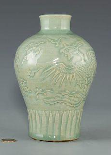 Longquan Celadon Carved Vase