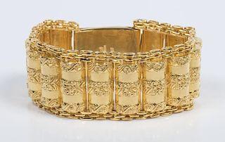 22K Wide Link Bracelet, 115.4 grams