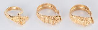 Set 22K Etruscan style Jewelry