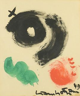 Hans Hofmann, Gouache on Paper, Abstract