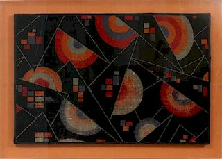AFTER WASSILY KANDINSKY PAINTED  TAPESTRY ABSTRACT