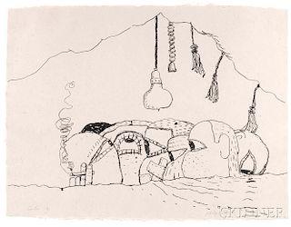 Philip Guston (American, 1913-1980)      Curtain
