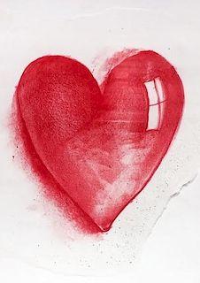 "Jim Dine Original ""Heart"" Painting"