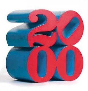 "Robert Indiana ""2000"" Sculpture"