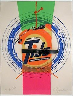 """James Rosenquist """"For Artists"""" Limited Edition"""