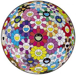 "Takashi Murakami POP ""Flowerball: Multicolor"""
